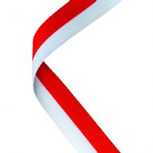 RED/WHITE RIBBON TWO COLOUR